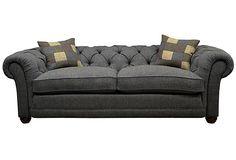 "Castlebay 85"" Sofa, Granite on OneKingsLane.com"