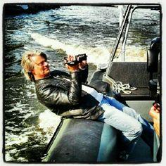 Videodreh im speedboot für Golflounge