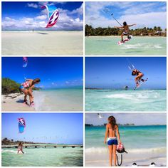 Charlotte Consorti with the new F-one Bandit 7 kite #kiteboarding