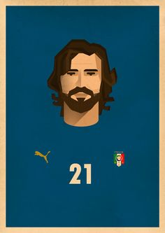 No. 21 by jafar behravan rad, via Behance  ****Imagine Scholes with Pirlo...