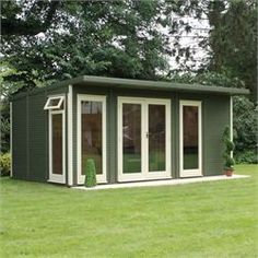 Buy Waltons 5 x Insulated Garden Room at Waltons Garden Buildings. UK made sheds, cabins and more. Free, fast delivery to most of UK Garden Pods, Garden Shed Diy, Dream Garden, Garden Ideas, Garden Crafts, Outdoor Office, Indoor Outdoor, Outdoor Living, Outdoor Sheds