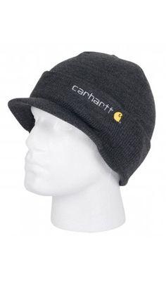 16d13de8609 Carhartt Winter Hat with Visor - NAVY. Mens Beanie with peak Hat.