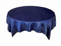 Navy Blue Satin Table Overlay Provided By Waterford Event Rentals.   Table  Overlays   Pinterest   Table Overlays