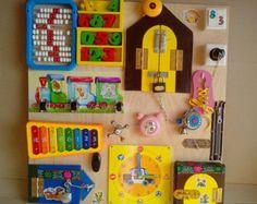 Busy Board, 20 elements, Activity Board, Sensory Board, Montessori educational…