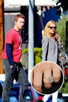 Gwyneth Paltrow was given a square-cut diamond ring by Coldplay frontman Chris Martin