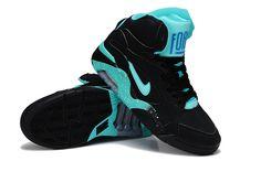 Nike Air Force 180 Mid Black Atomic Teal Violet Violet Force 537330 040 for Kevin Durant Basketball Shoes, New Basketball Shoes, Kevin Durant Shoes, Kobe Basketball, Kobe 9 Shoes, Kd 6 Shoes, Black Shoes, Nike Lebron, Lebron 11