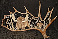 MooseHorn And Antler Carvings More Like This At FOSTERGINGER @ Pinterest  Lesbianlovers3 ✖️⚫️✖️
