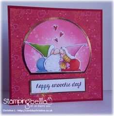Spotlight On: Smoochie Gnomes Valentines Day Drawing, Valentine Day Love, Valentine Day Cards, Anniversary Cards, Wedding Anniversary, Copics, Love Cards, Clear Stamps, I Card