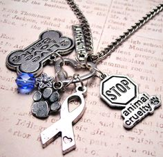 I seriously REALLY want this! Stop Animal Cruelty charm holder  necklace by MyTinyTemptations, $19.00