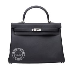 Black Kelly in Togo Leather with Palladium Hardware Hermes Handbags, Birkin, Hermes Kelly, Hardware, Belt, Wallet, Leather, Black, Belts