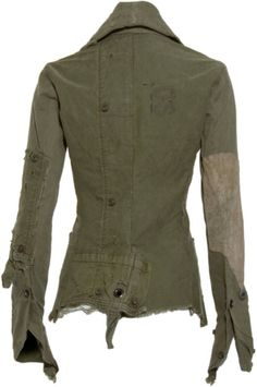 Greg Lauren Army Tent Arm Warmer #Jacket. Made from vintage army tents.