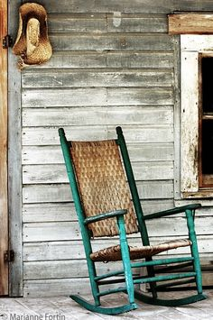 Rocking alone in an old rocking chair; she seems so neglected by those who should care. And I thought of angels as I saw her there, rocking alone in an old rocking chair.