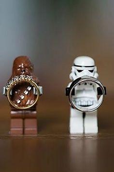 Star Wars Geek Wedding Ideas for Rings. On Your Wedding Day, Dream Wedding, Wedding Stuff, Lego Wedding, Star Wars Wedding Cake, Batman Wedding, Creative Wedding Cakes, Strictly Weddings, Cute Wedding Ideas