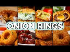 8 onion ring recipes TASTY--I am going to be dreaming of these for days! Appetizer Dips, Appetizer Recipes, Onion Rings Recipe, Low Carb Side Dishes, Vegetable Dishes, Food Videos, Baking Videos, Junk Food, Easy Dinner Recipes