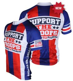 Support The Troops Cycling Jersey - FREE SHIPPING - http://www.cyclegarb.com/83-sportswear-cycling-jerseys.html