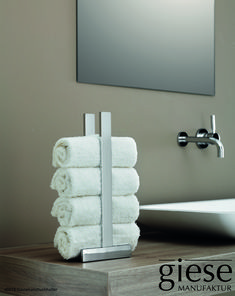 Examine this necessary image in order to look at the here and now facts and strategies on Ideas Bathroom Decor Spa Bathroom Decor, Guest Bathrooms, Bathroom Fixtures, Bathroom Interior Design, Towel Holder Bathroom, Bathroom Towels, Towel Holders, New Swedish Design, Towel Basket