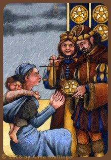 The 6 of Pentacles is our Tarot card of the day and with this card, the first thing that came to me was to be generous and open to sharing. Whatever goodness you can share with others today, go ahe… True Tarot, Pentacle, Tarot Decks, Tarot Cards, Anna, Coins, Painting, Weapon, Boy Outfits
