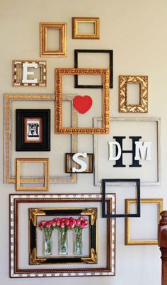 Feel A Creative Urge From This Intersecting Frame Style Gallery Wall