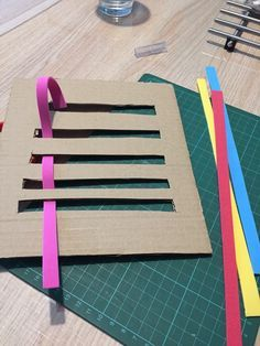 Reusable fine motor skills weaving. Gloucestershire Resource Centre http://www.grcltd.org/scrapstore/