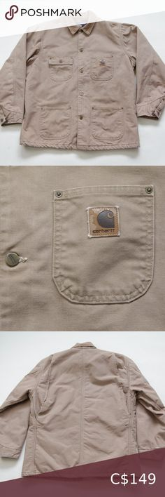 Vintage Carhartt Chore Coat Blanket Lined Jacket Line Jackets, Corduroy, Plus Fashion, Fashion Trends, Khaki Pants, Arm, Man Shop, Blanket