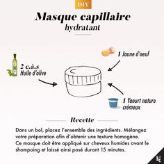 DIY: Hydrating hair mask- DIY : Masque capillaire hydratant You no longer have Hydrate Hair, Moisturize Hair, Damaged Hair Repair Diy, Moisturizing Hair Mask, Natural Hair Men, Natural Beauty, Diy Masque, Diy Hair Mask, Hair Regimen
