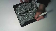 ...on the 2nd of January I played with white gelpen on black cardstock...loving the flow of the ink