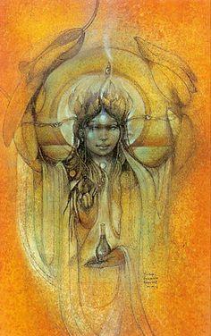 """Goddess of Compassion"" par Susan Seddon Boulet"