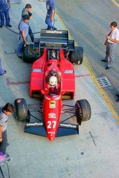 Rene Arnoux Ferrari 126/C4 M2 - 1984 Imagine 3-seat road version with boat tail but still open wheeler, rear engine? Crazy?