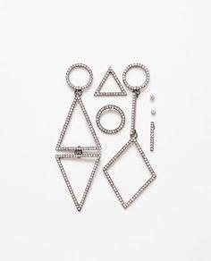 Image 1 of PACK OF GEOMETRIC EARRINGS from Zara