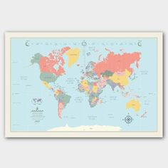 """Rand Mcnally World Wall Map 50/""""x32/"""" Paperback /& Rolled Large Edition"""