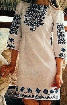 Ideas for embroidery patterns vintage mexican embroidered dresses Mexican Fashion, Folk Fashion, Ethnic Fashion, Mexican Embroidered Dress, Embroidered Clothes, Casual Dresses, Fashion Dresses, Mexican Dresses, Embroidery Dress