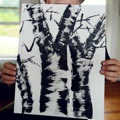 Simple Birch Tree Art Project
