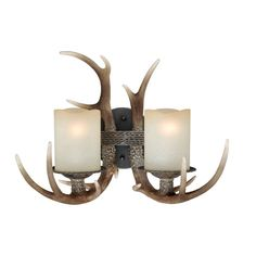 Buy the Vaxcel Lighting Black Walnut Direct. Shop for the Vaxcel Lighting Black Walnut Yoho 2 Light Bathroom Vanity Light - Inches Wide and save. Sconces, Double Wall Lights, Rustic Light Fixtures, Rustic Wall Lighting, Lodge Lighting, Rustic Lamps, Antler Lights, Wall Sconce Lighting, Light