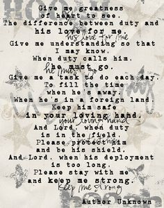 Military wife/fiance/girlfriend prayer.