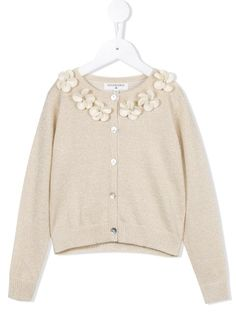 Shop Charabia flower appliqué cardigan in Kids 21 Singapore from the world's best independent boutiques at farfetch.com. Shop 400 boutiques at one address.