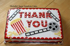 Thank You Movie Themed Sheet Cake - Cake by Michelle