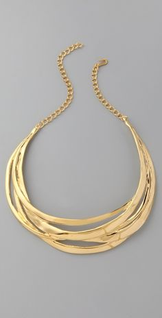 Travel with fabulous looking jewelry - Kenneth Jay Lane Polished Multi Row Necklace #Jewelry