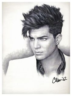 Also this Fan art drawing of Adam Lambert by Live4ArtInLA is Amazing!!
