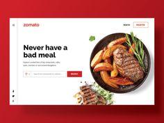 Zomato Web Concept UI