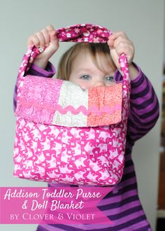 Addison Toddler Purse & Doll Blanket {Tutorial with Benartex Bella Morocco}
