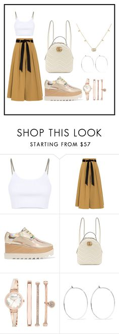 """""""Sans titre #85"""" by zinebhassny-1 ❤ liked on Polyvore featuring Alexander Wang, Temperley London, STELLA McCARTNEY, Gucci, Anne Klein, Catbird, gucci and rosegold"""