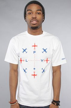 The N Sew Tee in White by Fly Society