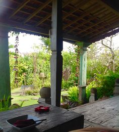 Front porch at Desa Seni in Canggu. Javanese house for one week.