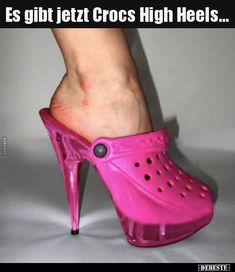 sports shoes cb7ad 3b994 Es gibt jetzt Crocs High Heels...   Lustige Bilder, Sprüche, Witze