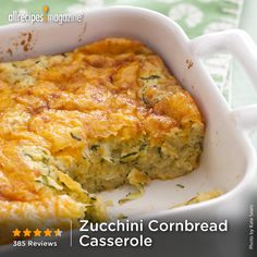 "Zucchini Cornbread Casserole I ""This is a favorite side dish with my family I'm so glad I found it! It's so easy to prepare and it's delish! Zucchini Side Dishes, Vegetable Dishes, Cornbread Casserole, Casserole Recipes, Side Dish Recipes, Vegetable Recipes, Vegetarian Zucchini Recipes, Zucchini Zoodles, Zuchinni Pie"