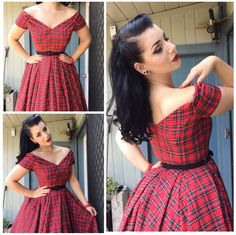 Vintage Hairstyles Miss Victory Violet Mais Looks Rockabilly, Rockabilly Fashion, 1950s Fashion, Vintage Fashion, Rockabilly Girls, Mode Outfits, Dress Outfits, Girl Outfits, Dress Up