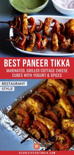 Restaurant Style Tandoori Paneer Tikka Recipe with step by step photos. This delicious Tandoori Paneer Tikka Recipe is tried and tested by many readers. Healthy Indian Snacks, Vegetarian Snacks, Paneer Recipes, Curry Recipes, Easy Indian Recipes, Asian Recipes, Tandoori Paneer, Easy Appetizer Recipes, Snack Recipes