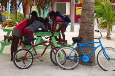 Caye Caulker, Belize, a bicycle utopia.  I don't think I saw one car on the whole island.