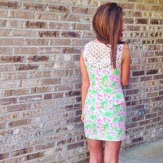 Back of my dress ❤️ Preppy Girl, Preppy Style, My Style, Preppy Outfits, Cute Outfits, Stylish Outfits, Preppy Clothes, Girly Outfits, Bae