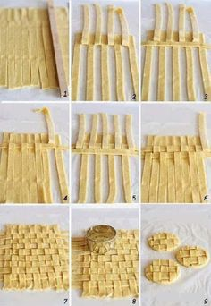 how to make a perfect pie topper or make lattice cookies No Bake Desserts, Just Desserts, Delicious Desserts, Yummy Food, Pie Recipes, Sweet Recipes, Cooking Recipes, Lattice Pie Crust, Pie Dessert